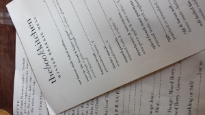 The Book Kitchen Menu